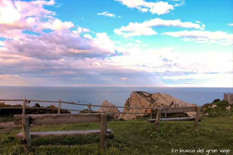 Las vistas de los acantilados desde Cabo de Peñas