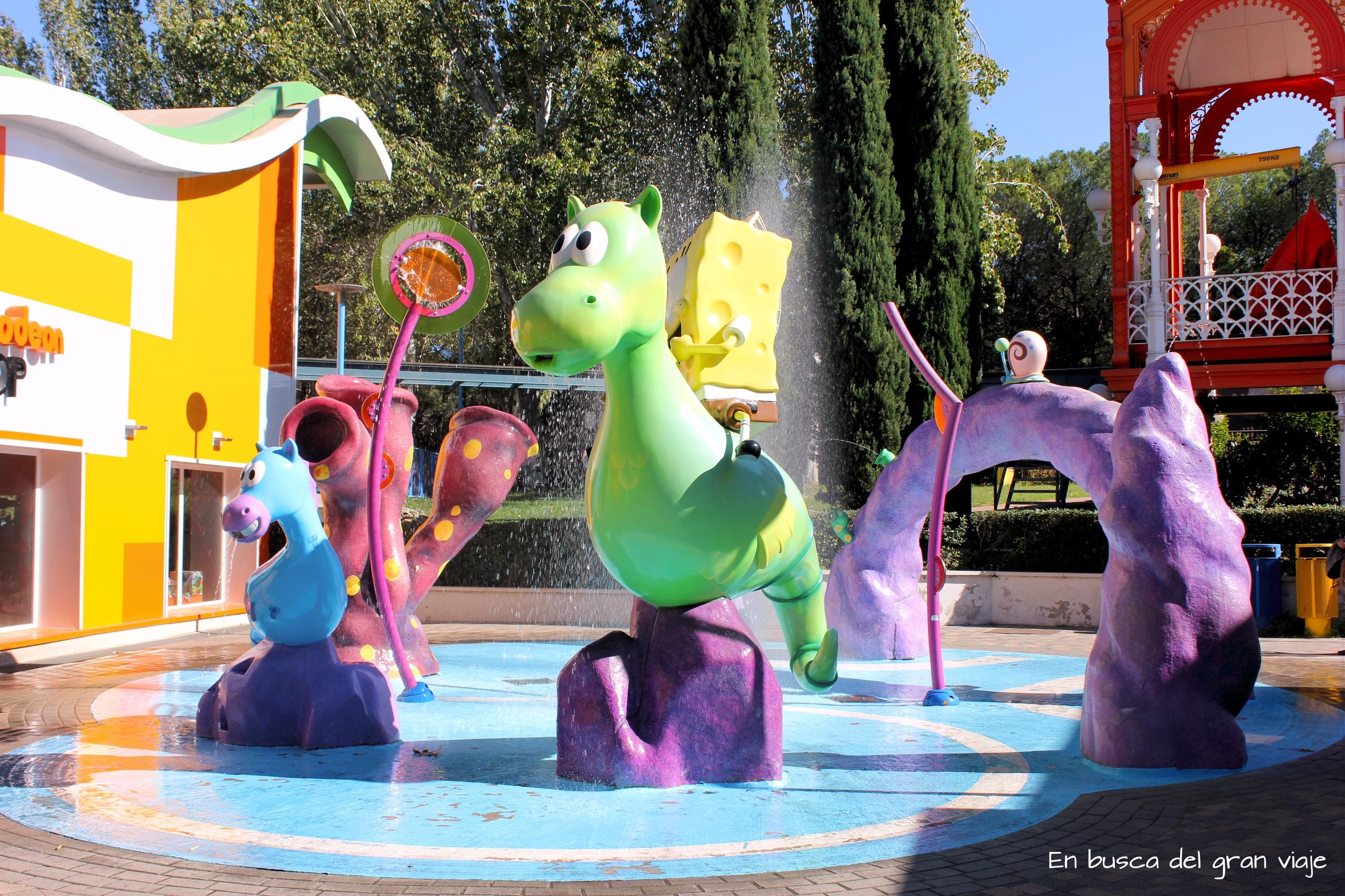 Zona de agua del Parque de Atracciones