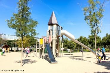 El tobogan central de la Ciudad de los niños