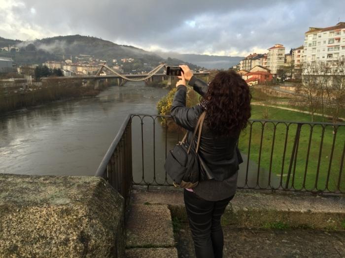Majo fotografiando Galicia