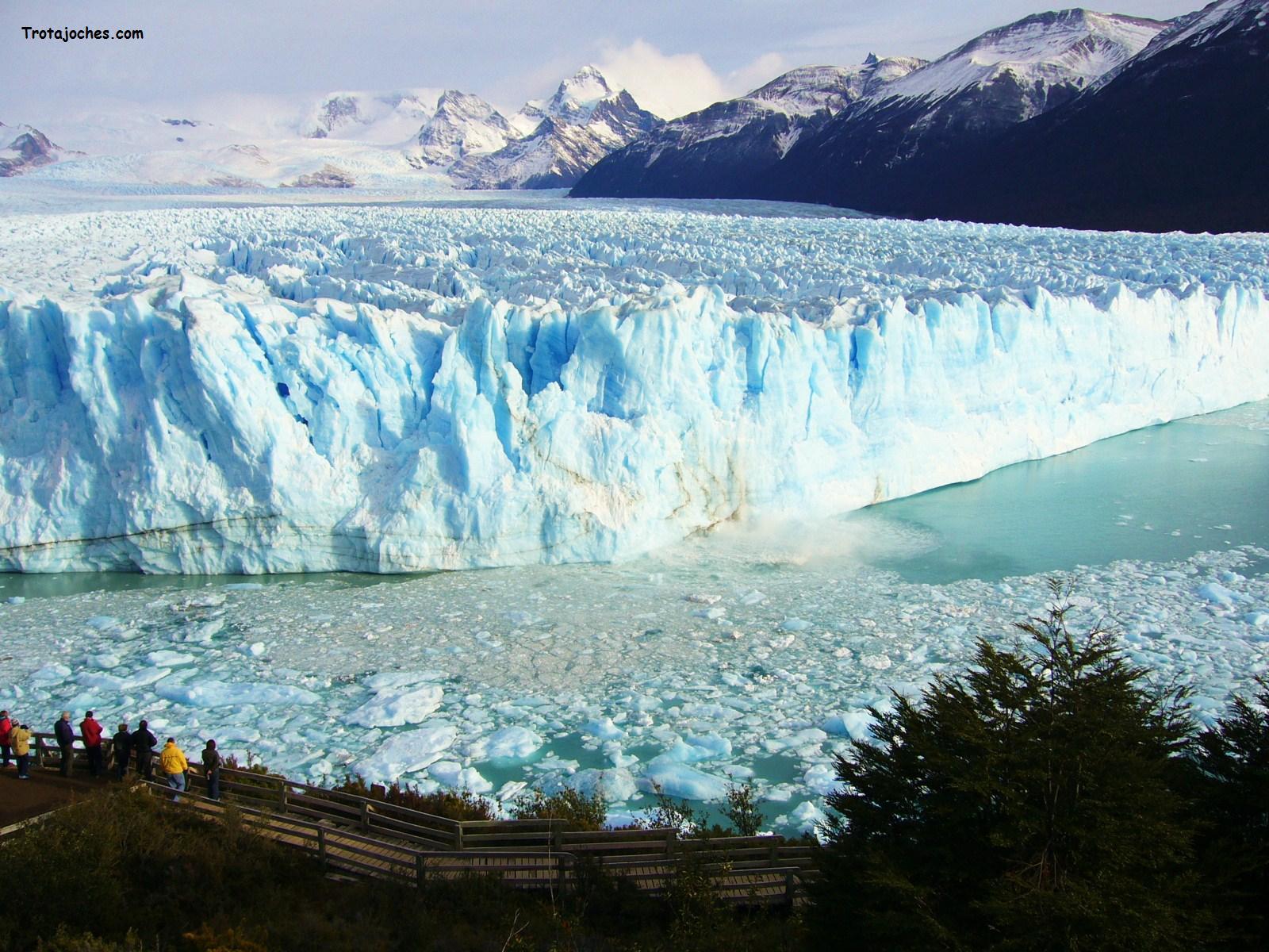 El glaciar del Perito Moreno en Argentina