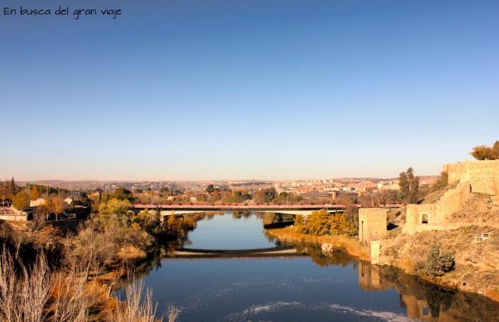 Vistas desde el puente de San Martín, en Toledo