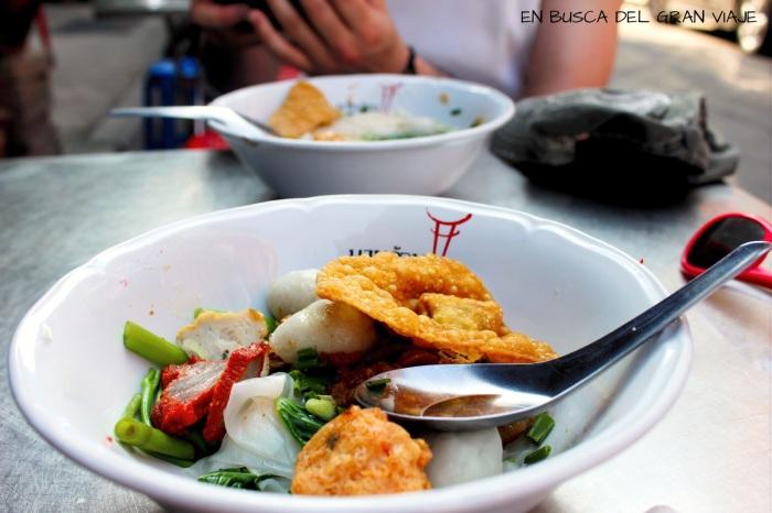 Noodles con carne y verduras
