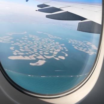 Vistas de Dubai desde el avión