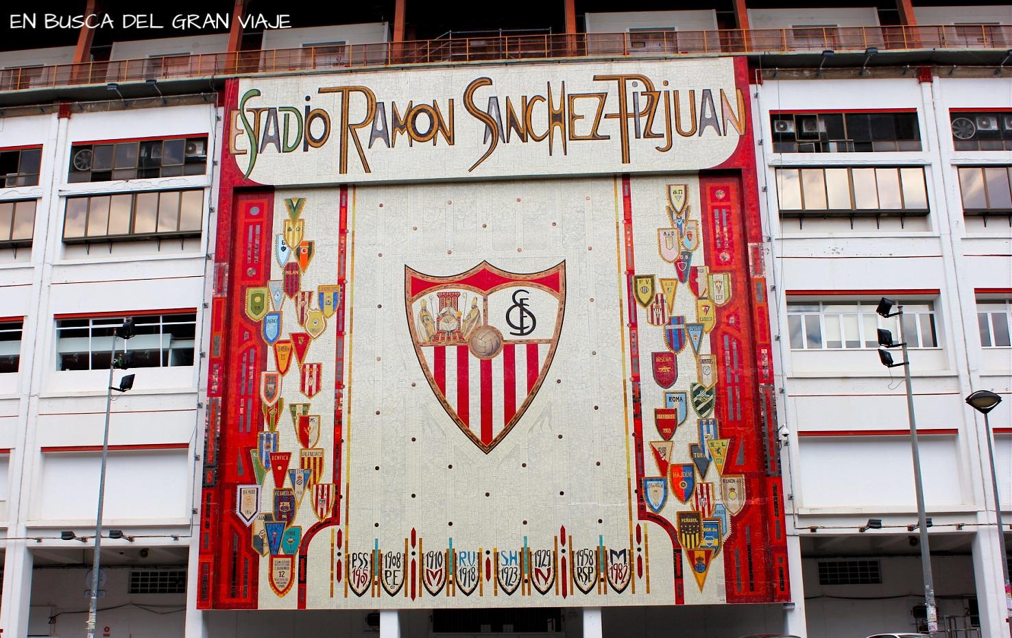 Entrada del estadio del Ramón Sanchez Pizjuan