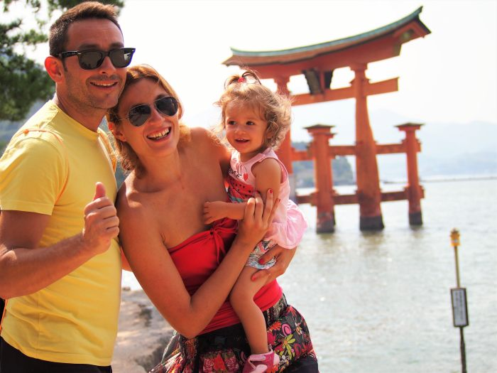 Toda la familia en Miyajima