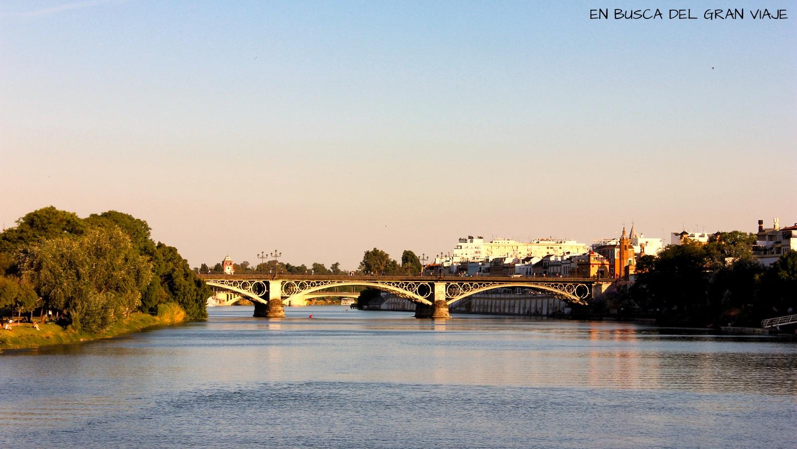 El puente de Triana desde el crucero de Torre del Oro