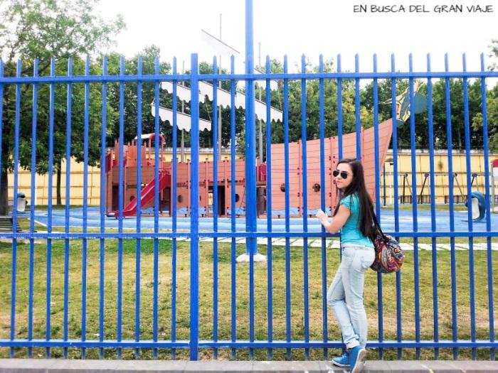 Foto de Sara en el parque de los Descubrimientos