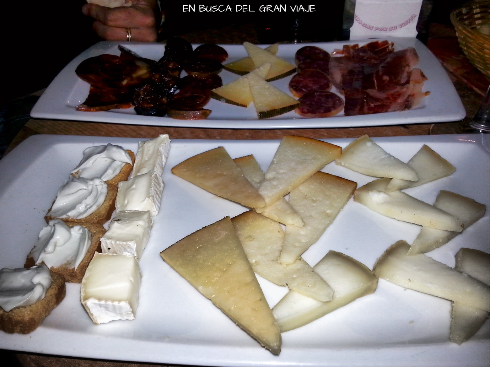 Tablas de embutido y quesos