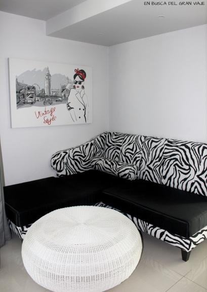 Sofá de la sala de estar