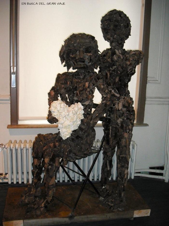 Escultura de chocolate en el museo Choco Story